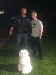 Elders Jackson and Greenhalgh Deliver Snowman from Heber to Mission Home