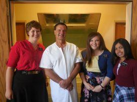 Sister Isert, Eddie, Sister Landry and Sister Radamason