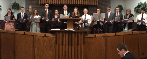 Special Choir - L to R: S. Villalta, E. Thompson, S. Peterson, E. Rosenbalm, S. Pinto-Haynes, E. Strike, S. Welch, E. Morgan, S. Corona, E. Schaat, E. Crockett, S. Oldham, E. Tolibas (E. Hepworth on front row)