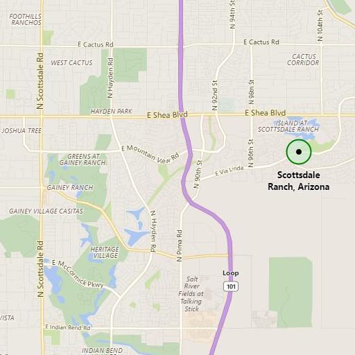 Map to Scottsdale Ranch, Arizona