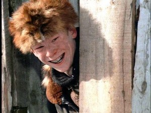 Scut Farkus and his racoon hat