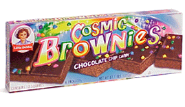"""Picture of a box of Little Debbie """"Cosmic Brownies"""""""