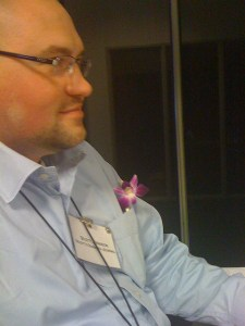 Picture of Scott with a flower in a pocket