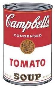 Image of a can of Campbell's Tomato Soup