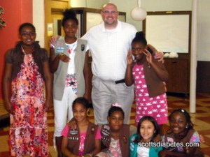 Picture of Scott with the Girl Scout troop