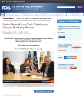Patient Network Live Chat - Diabetes and Glucose Monitoring Devices