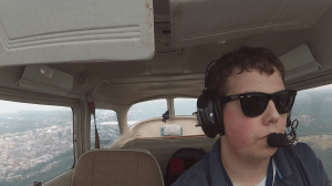 Jay in the cockpit