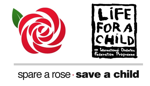 Logos for Spare a Rose, Save a Child