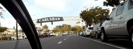 Cycling through Carlsbad, CA