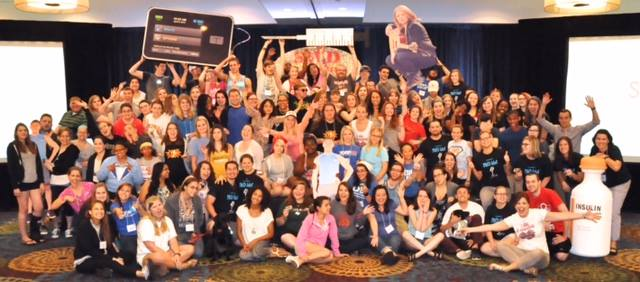 Group shot from the 2015 Students with Diabetes Conference