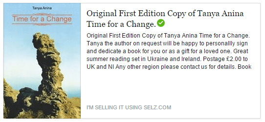 Tanya Anina Author Time for a change Paperback