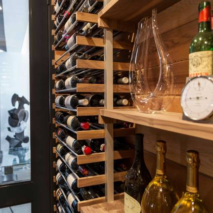 Chelsea Loft - New York - Wine Cellar Detail