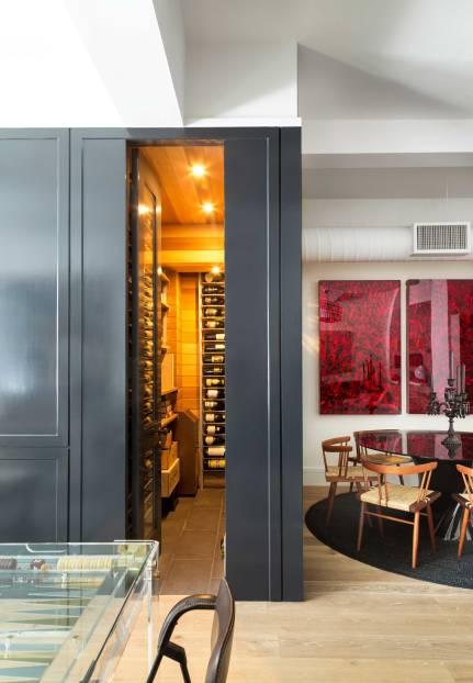 Chelsea Loft - New York - View into Wine Cellar