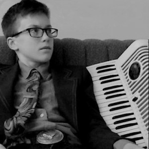 portrait of David with his accordion