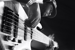 Jason playing a 6 string bass