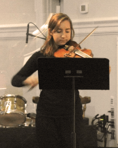 Melissa playing violin