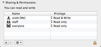 screen shot of Sharing & Permissions file metadata