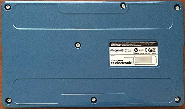 Back panel of the Flashback X4 with the DIP switch hole modification.