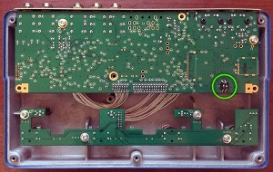 Interior photo of the Flashback X4's PCB.