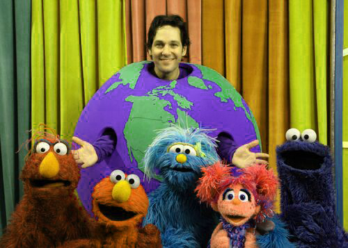 image of Paul Rudd on Sesame Street