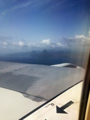 My first view of St. Lucia