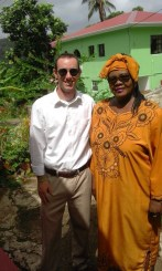 Julie and I on our way to the Evangelical service at her local church