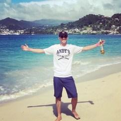 Myself at Grand Anse Beach.