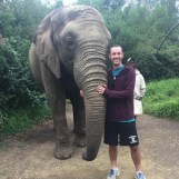 Myself with an elephant simply because this is one of my all-time favorite photos.