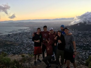 Before volunteering during the day, one morning we hiked to the top of Lion's Head Mountain to see the sunrise over Cape Town.