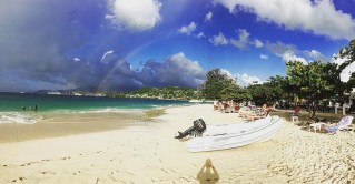 While spending the day at Grand Anse Beach, we were greeted with a double rainbow over St. George's.