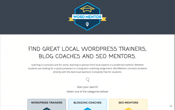 WordMentor Find Local WordPress Trainers