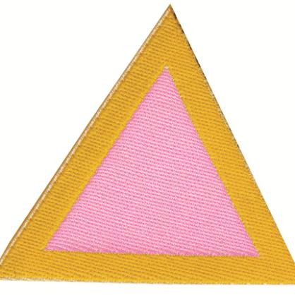 Distintivo di sestiglia Rosa coccinelle
