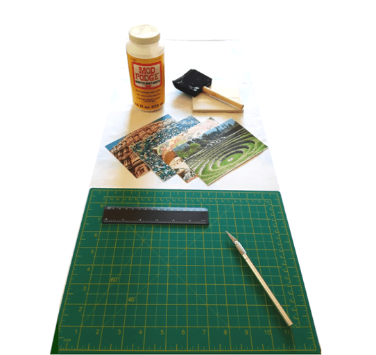 """Materials, supplies, and tools for """"DIY Travel Photo Coaster Tiles"""""""