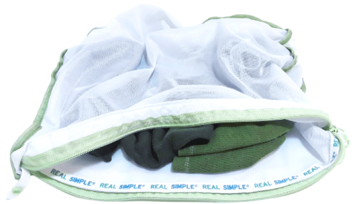 T-Shirt Neck Gaiters stored in a wash bag after use until ready to wash