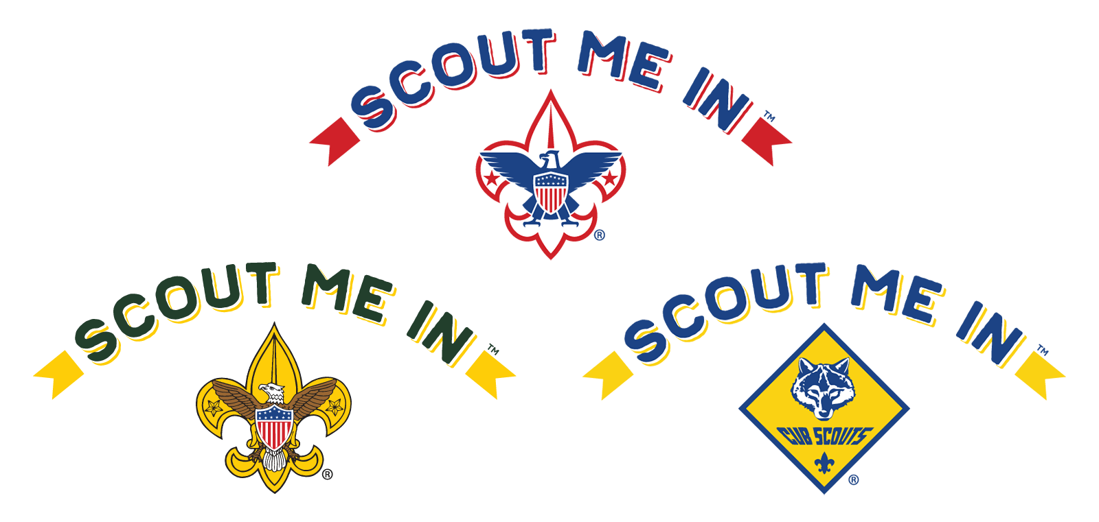 Scout Me In Triple Logo