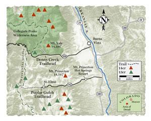 Trail Tips Snowshoe Buena Vista Colorado Map