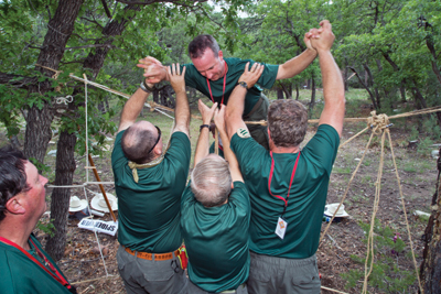 Wood Badge Team Building Ropes Course