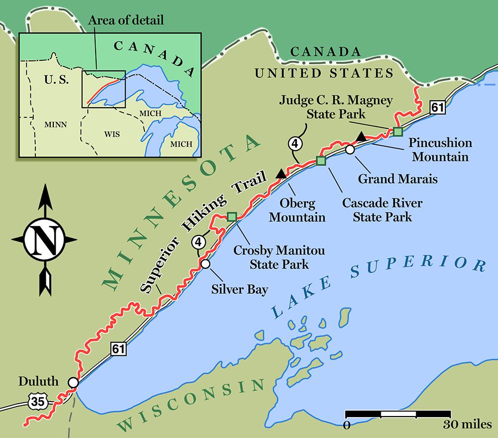 Superior-Hiking-Trail-Map