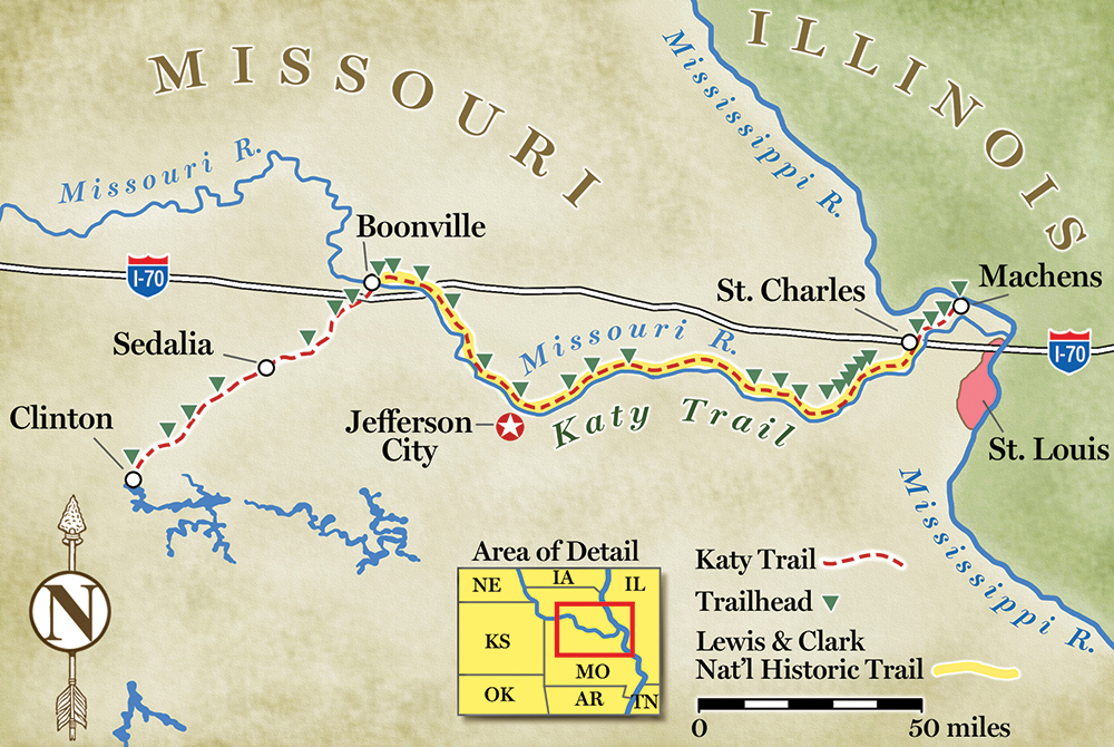 Bike Or Hike The Popular Katy Trail In Missouri