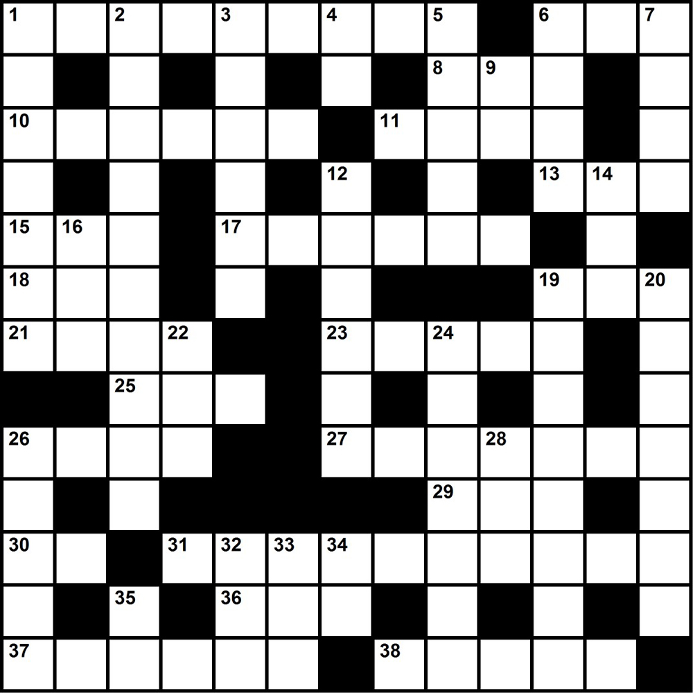 Challenge yourself with a merit-badge themed crossword puzzle