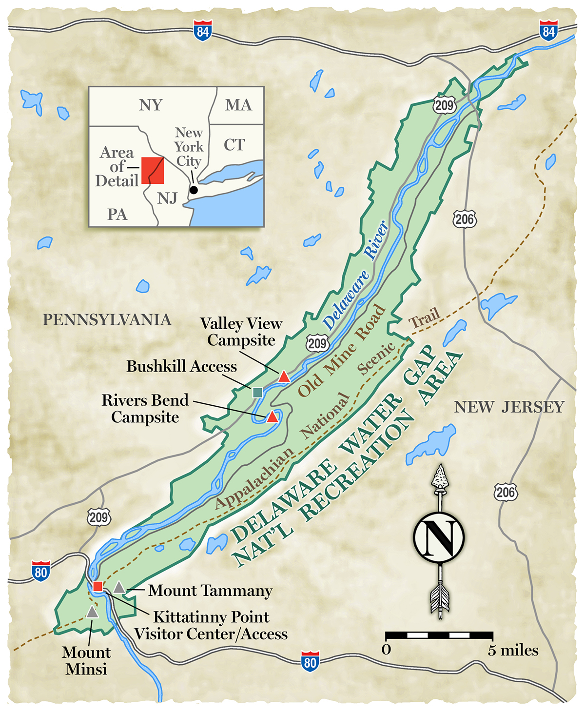 delaware water gap national recreation area map Explore The Delaware Water Gap National Recreation Area delaware water gap national recreation area map
