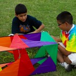Ready for takeoff with kites