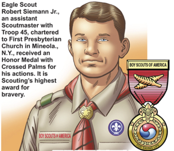 Scouters in Action: He Saved A Woman Trapped In Her House!