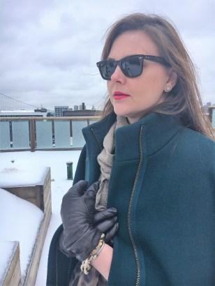 Sunglasses are so necessary for snow days.