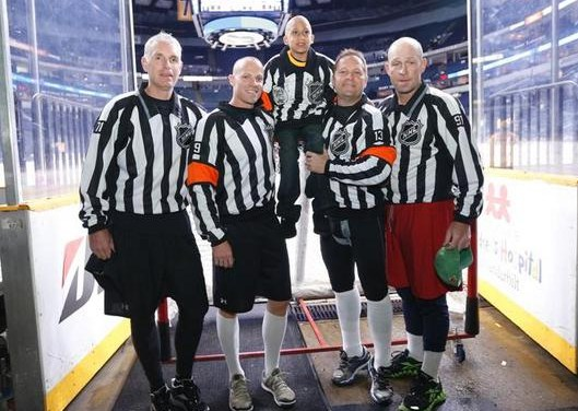 Preds, Referees Help Hockey Fight Cancer