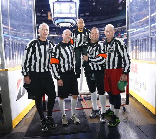 Preds, Referees Help Hockey Fight Cancer