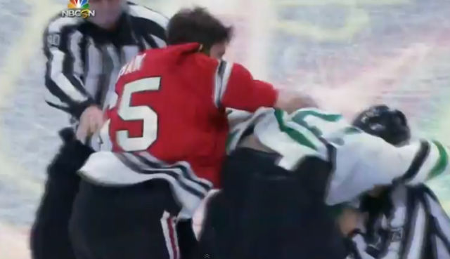 Linesmen Break Up Fight, Players Keep Fighting