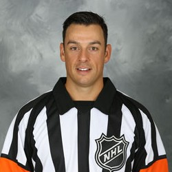 NHL Referee Ghislain Hebert (#22)