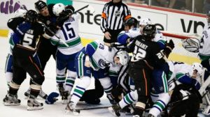 The Canucks and Ducks scrap earlier this week