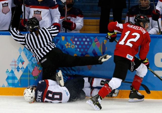 Today's Olympic Hockey Referees – 2/15/14